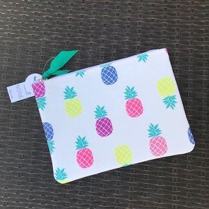LOFT Canvas Pineapples Beach Bikini Bag